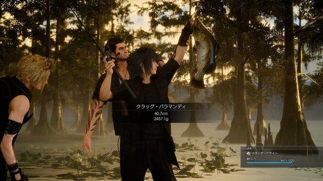 In Final Fantasy XV könnt ihr sehr viel Zeit in das Angeln investieren.