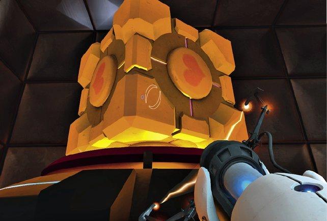 Der Companion Cube: Die Essenz von allem, was ein guter Sidekick zu bieten hat.