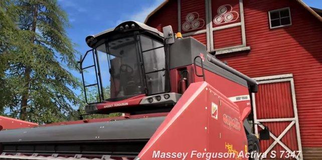 In LS 17 gibt es auch verschiedene neue Erntemaschinen, wie zum Beispiel den Massey Ferguson Activa S7347