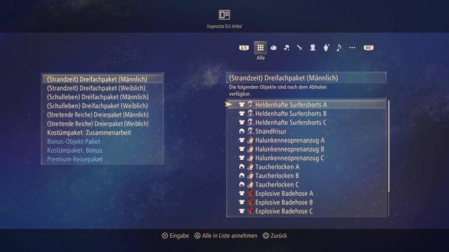 Hier könnt ihr eure eingelösten DLC-Inhalte abholen.