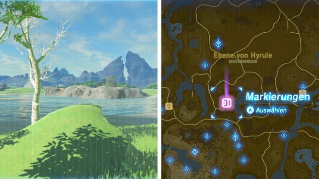 Fundort: Nordwestlich vom Turm des Plateaus und westlich vom Komolo-See.