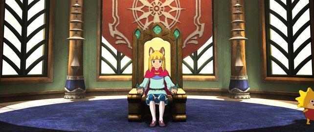 Evan ist der erste Bewohner und hat als König seinen Platz natürlich im Schloss.