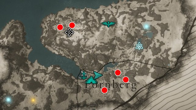 Die Karte zeigt euch die oben beschriebenen Rentier-Fundorte.