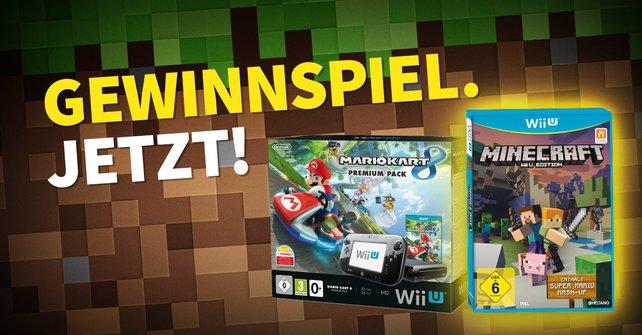 Gewinnspiel MinecraftPaket Inklusive NintendoKonsole Absahnen - Minecraft wii u spieletipps