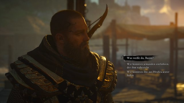 Basim hat einige Ideen, wie er und Eivor mehr über Sigurds Aufenthaltsort erfahren könnten.
