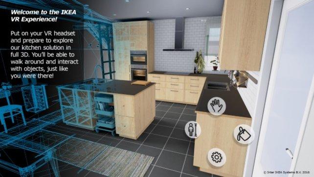 Diese Küche könnt ihr mittels der Ikea VR Experinece hautnah begutachten.