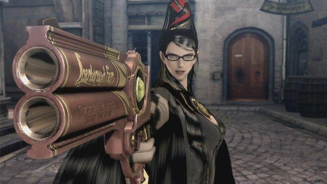 Bayonetta kann nicht nur mit Pistolen, sondern auch mit ihren Haaren angreifen.