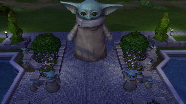 Wenn ihr auch solche Fans seid wie wir, baut euch doch bei Sims 4 einen Baby-Yoda Schrein.