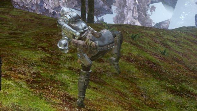 Dark Souls: Wer zum falschen Moment tritt, wird eingestampft.