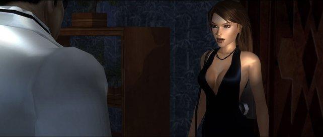 Egal, wie aufreizend sie sich auch geben mag, Frau Croft bleibt stets eine Lady.