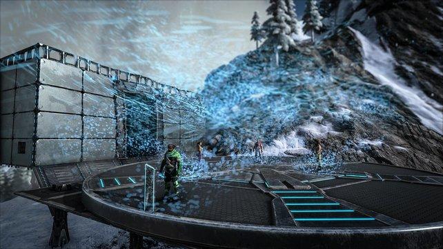 Der neue Teleporter in ARK: Survival Evolved ist so groß, dass ihr auch schwere, große Kreaturen damit teleportieren könnt.
