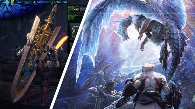 Palast-Waffen gehören zu den schönsten Waffen in Monster Hunter World: Iceborne