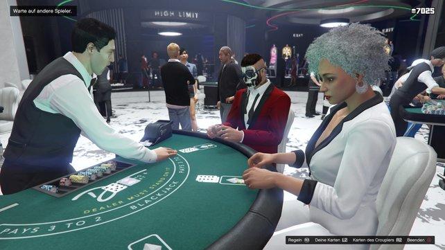 In jedem Spiel fordert ihr die Bank des Casinos heraus. Gegen andere Spieler könnt ihr allerdings (noch) nicht antreten.