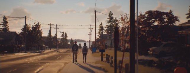Ein normaler Tag im Leben eines Jugendlichen: Shawn geht mit seiner besten Freundin Lyla nach Hause.