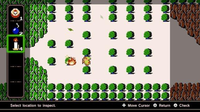 Sieht aus wie The Legend of Zelda, ist aber nur die vermeintliche Karte des Abenteuermodus.