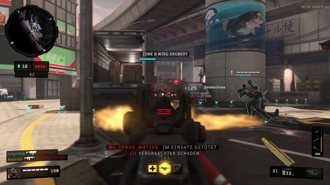 Die Mehrspieler-Action auf den engen Maps spielt sich altbewährt, ohne unnötige Hüpfereien.