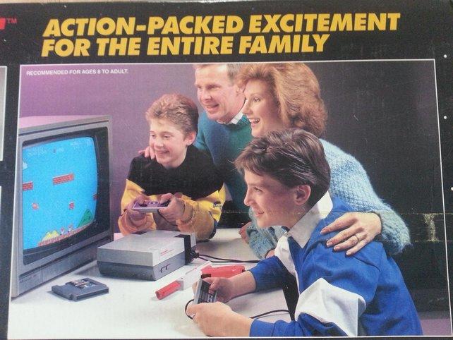 Nintendo wusste es schon immer: Spiele sind für die Familie da! (Die Frisuren sind ein Verbrechen.)