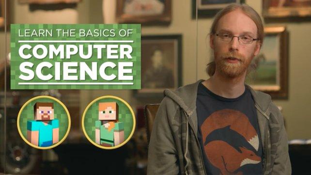 Jens Bergensten erklärt Programmieren mittels Minecraft.
