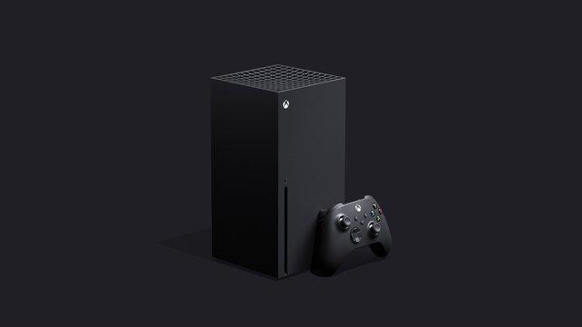 So sieht sie also auf, die Xbox Series X.