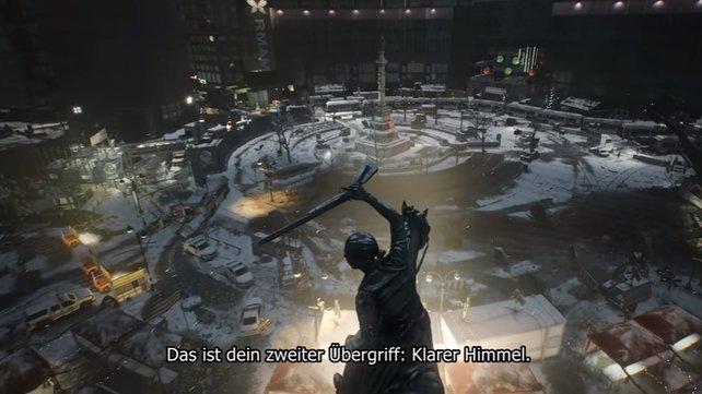 """Der neue Übergriff """"Klarer Himmel"""" schickt euch zum Columbus Circle."""