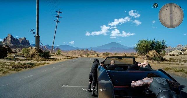 Wenn ihr Final Fantasy XV startet, werdet ihr selbst Opfer einer Autopanne.