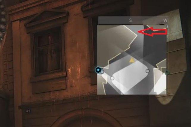 Über diese Gasse betretet ihr das Versteck bei Deus Ex - Mankind Divided SM 09.