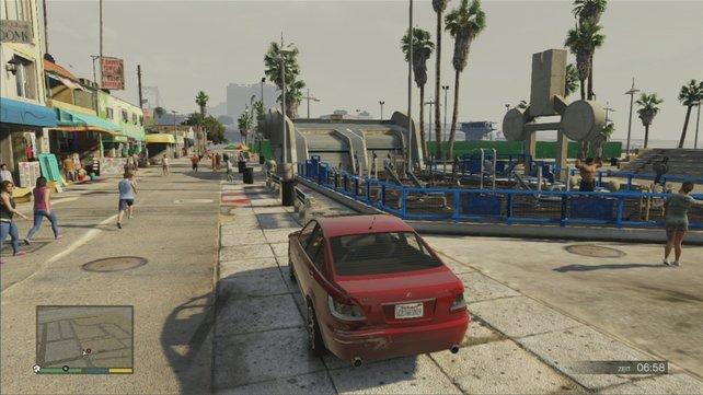 Am bequemsten schießt man aus dem Auto heraus.