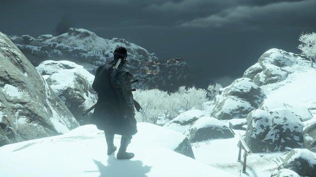 Um seinen Verbündeten den Weg nach Norden zu ermöglichen, muss Jin Fort Kaminodake in der Ferne einnehmen.