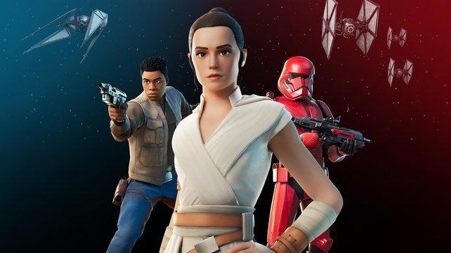 Outfits, Accessoires und Lichtschwerter: Fortnite trifft auf Star Wars.