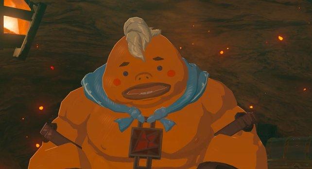 Trotz seiner Kraft, ist Yunobo ein ängstlicher Zeitgenosse.