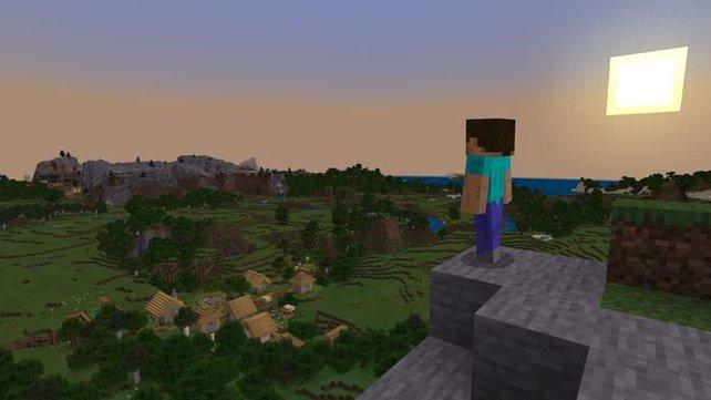 Minecraft-Spieler finden die Welt des Hauptmenüs.
