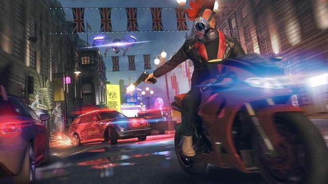 Rasante Verfolgungsjagden in Watch Dogs: Legion – düst das Wochenende kostenlos durch das Open-World-Game von Ubisoft.