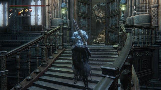"""Hinter dieser Tür beginnt der zweite DLC-Bosskampf gegen die """"Lebendigen Misserfolge""""."""