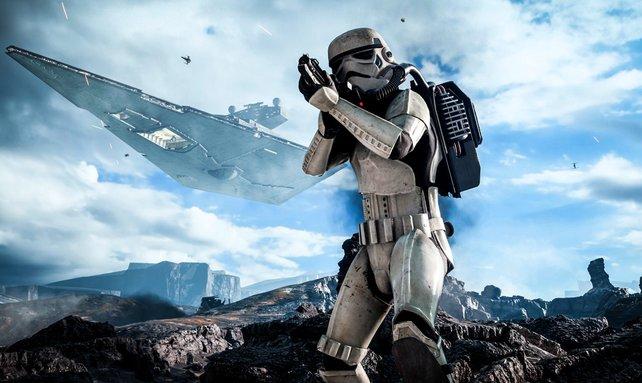 Star Wars Battlefront: Hoffentlich hat dieser Stormtrooper genügend Zielwasser getrunken.