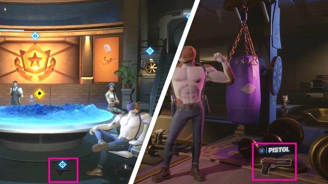 Die beiden Pistolen von Deadpool findet ihr im HQ der Agenten bzw. im Hauptmenü.