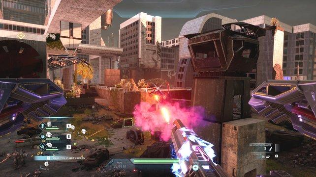 Spielt ihr Disintegration als Shooter, unterstützt euch die Crew automatisch.