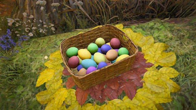 Macht euch im Rahmen des Eastre-Fests auf die Eiersuche.