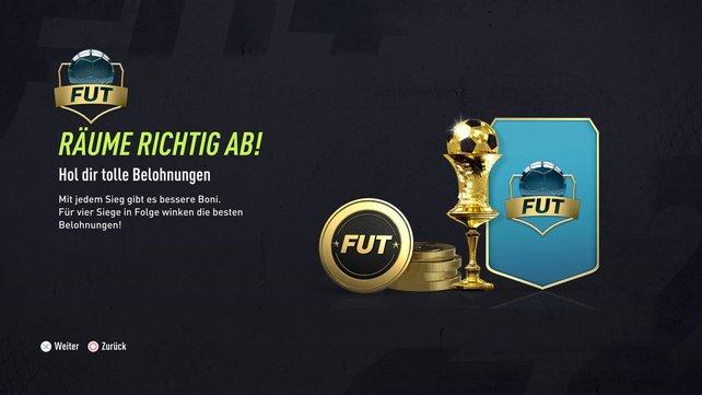 Je mehr Spiele ihr gewinnt, desto höher fallen natürlich die FUT-Draft-Belohnungen in FIFA 22 aus.