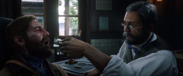 Der Arzt hat keine guten Nachrichten für Arthur.