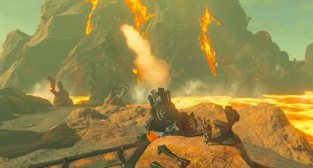 Während eurer nächsten Aufgabe müsst ihr drei weitere Kanonen finden und damit Vah Rudania abschießen.