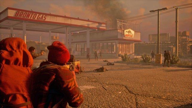 Zombies könnt ihr mittels Schleichangriff, im Nahkampf oder im offenen Gefecht eliminieren.