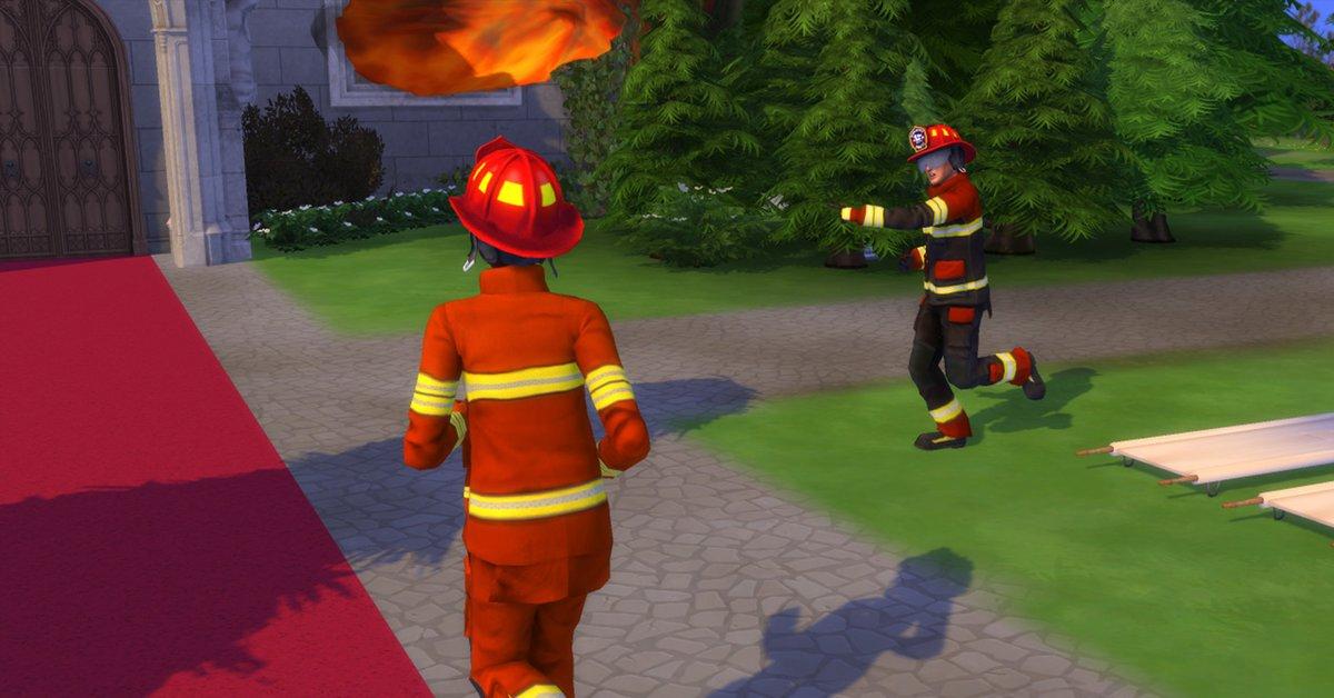 Die Sims 4: Spieler erlebt schlimmsten Feuerwehreinsatz