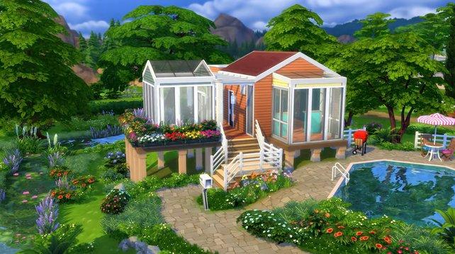 Ist das Haus kleiner, bleibt mehr Platz für einen schön gepflegten Garten.