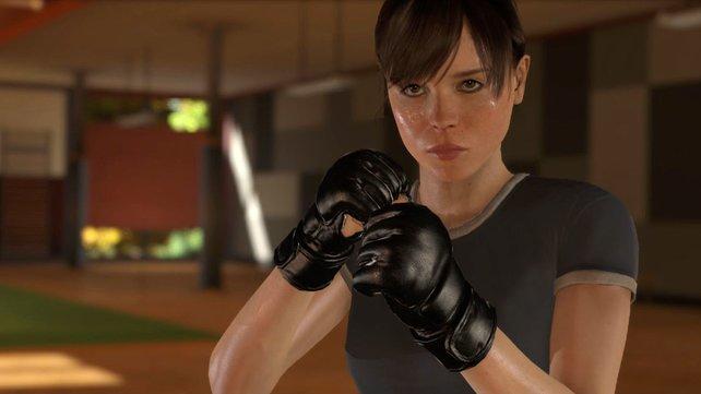 Ellen Page verlieh ihrem Charakter Stimme, Bewegung und Aussehen.