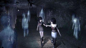 <span></span> Mio und Mayu umringt von Geistern