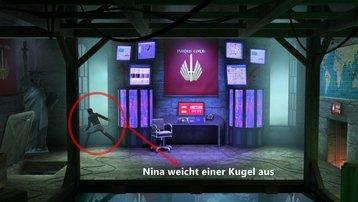 <span></span> Nina weicht Kugel aus