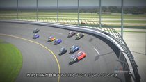 Trailermit NASCAR-Autos